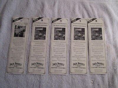 Jack Daniel's Country Cocktail Inserts for the 4 Packs 1991  RARE 5 Total