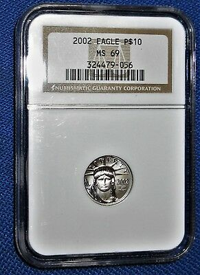 NGC Certified MS 69 US 2004 PURE PLATINUM 1/10th Troy Ounce EAGLE