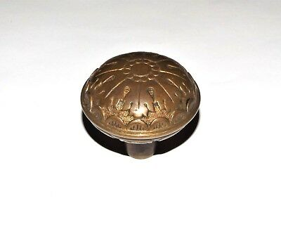 ANTIQUE 19th c VICTORIAN DOOR KNOB Bronze or Brass ORNATE VINTAGE 1800s DOORKNOB