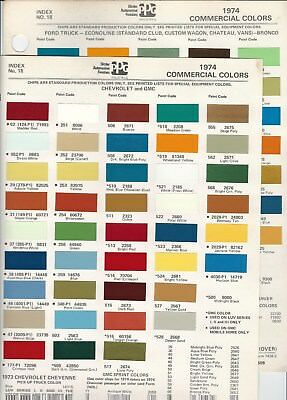 1974 Chevrolet Luv Gmc Ford Dodge Jeep International Truck Paint Chips Ppg