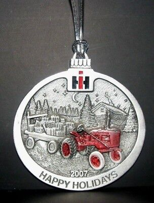 IH International Farmall A Tractor 2007 Pewter Christmas Ornament 4th in Series
