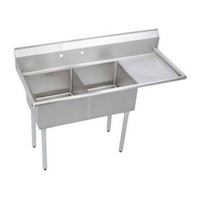 Elkay - SE2C18X18-R-18X - Two Compartment Sink w/ Right Drainboard