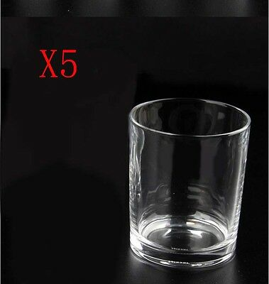 New 5X Capacity 370ML Height 95MM Straight Body Whisky Wine Glass/Glassware %