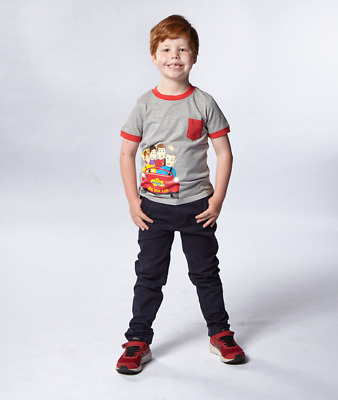 New - The Wiggles - Grey Printed T-Shirt With Red Trim  - T-shirt - ABC Shop