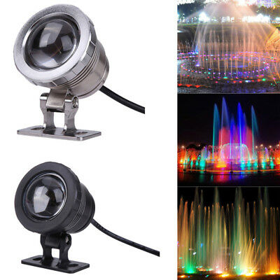 10W 12V RGB LED Underwater Spot Light LED Waterproof Pond Fountain Aquarium Lamp