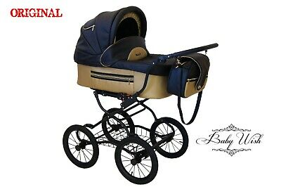 ISABELL Pram Baby Fashion  3in1 CARRYCOT+STROLLER+CAR SEAT+ FREE RAIN COVER