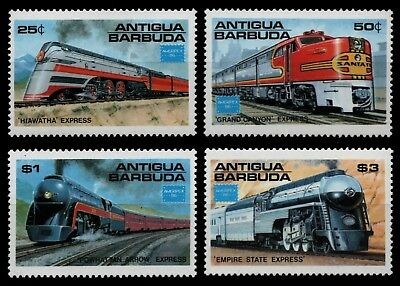 Antigua 1986 - Mi-Nr. 944-947 ** - MNH - Lokomotiven / Locomotives