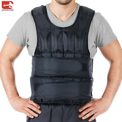 Sporteq Weighted Vest 10kg,12kg,15kg, 20kg Adjustable Running Weight Loss Jacket
