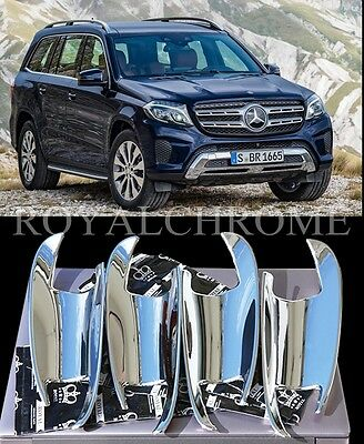UK STOCK 4x ROYAL CHROME Door Handle Cup Inserts Mercedes W166 ML GLE GL GLK GLS