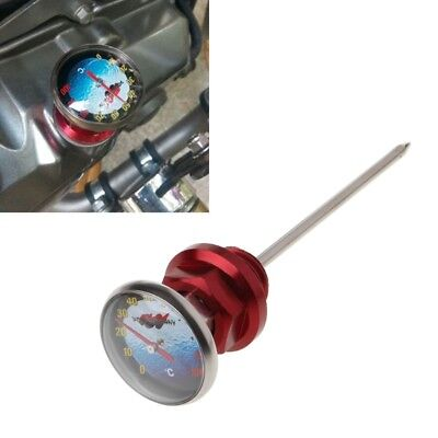 Motorcycle Dirt Pit Bike Parts Oil Cap Tank Temperature Gauge For 110/125cc Red