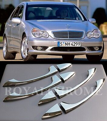 UK STOCK RHD ROYAL CHROME Door Handle Covers for Mercedes W203 W211 W219 C E CLS