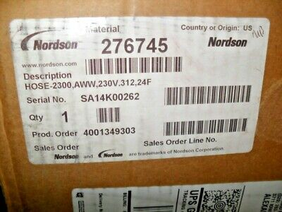 Nordson 276745  Heated Hot melt Hose In Factory box New