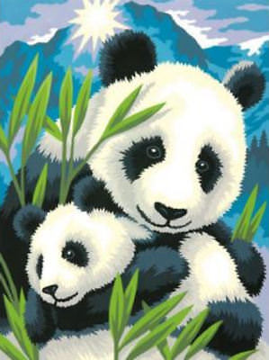 Paint Works Panda & Cub Painting By Numbers Kit