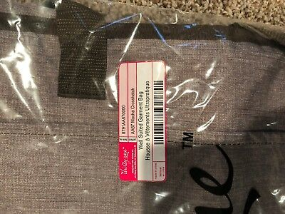 Thirty One garment bag 31 Mocha Crosshatch Travel Well Suited Carry On Pockets