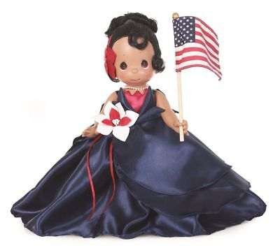 "Precious Moments Disney The Red, White and Blue Tiana 12"" Doll"