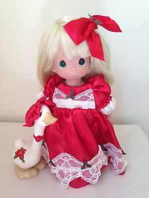 """Precious Moments Christmas wishes with Duck 12"""" Doll"""