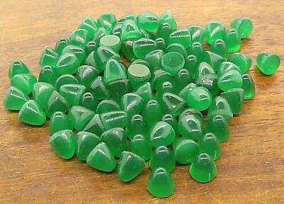 Vintage LOT OF (25) ART DECO 1920's 1940's GREEN ONYX CABOCHON CAB findings NOS