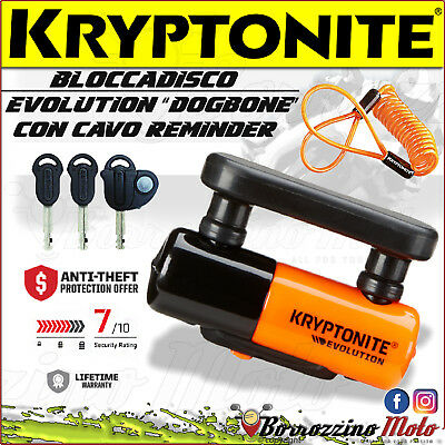 Antifurto Lucchetto Disco Bloccadisco Kryptonite Evolution Universale Moto