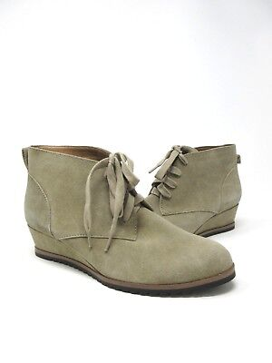 95e098f6125 New Toms Suede Taupe Women s Ankle Wedge Heel Lace Up Booties Boots 6.5