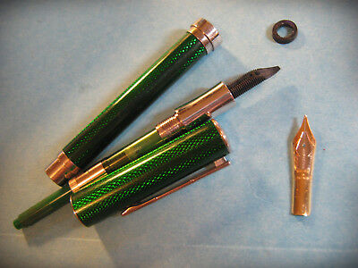 Levenger 18K .750 Gold Nib Fountain Pen FOR PARTS OR REPAIR Made in Germany