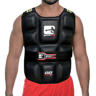 Sporteq Weighted Vest Gym Running Fitness Weight Loss Jacket 6kg,12kg,14kg,20kg