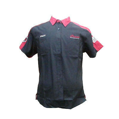 Indian Motorcycle New OEM Women's Red & Black Staff Shirt, 2X-Large, 286768312