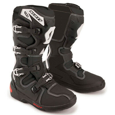 Scott - 450 Black Men MX Boots - 8