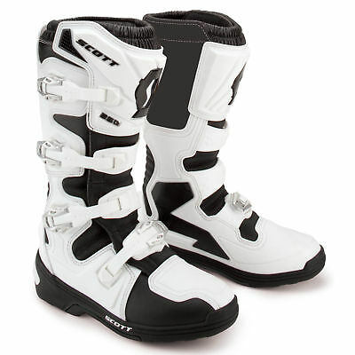 Scott - 250 White/Black Men MX Boots - 11