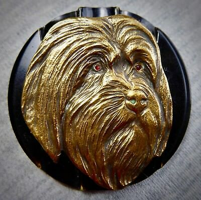 Vintage Bakelite and Antique Brass Brooch - Handcrafted, One of a Kind