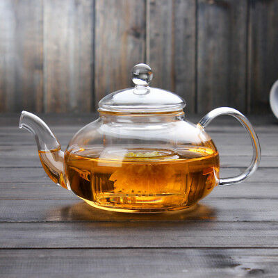 600ML-1000ML Heat Resistant Clear Glass Teapot With Infuser Flower Tea Pot Hot