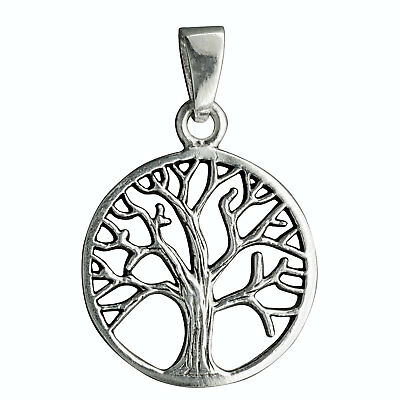 Tree of Life Celtic Viking Pendant Solid 925 Sterling Silver Stamped BELDIAMO