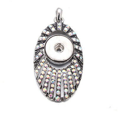 New Crystal Longevity Turtle Pendant Drill Snap Fit Noosa Necklace Charm Button