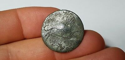 Roman Bronze Button -Dog 1st Century AD