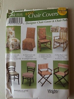 SIMPLICITY SEWING Pattern - 5952 - Chair Covers - £1.99 | PicClick UK