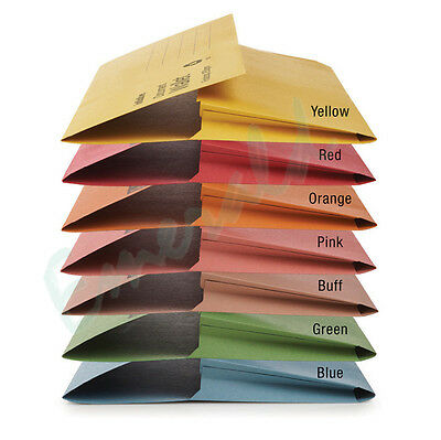 25 x Foolscap HEAVYWEIGHT Document Wallets Various Colours Fits A4 285gsm