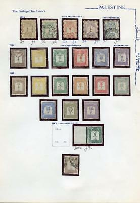 PALESTINE  SELECTION OF MINT NEVER HINGED,HINGED & USED  AS SHOWN. J14a is NH