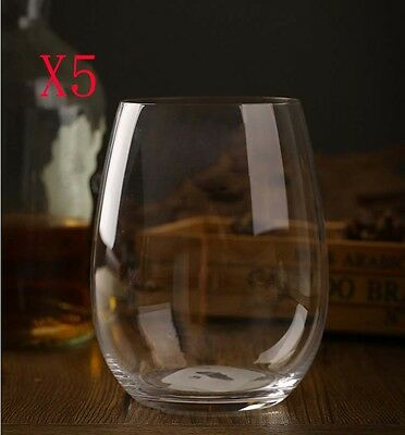 New 5X Capacity 610ML Height 118MM Transparent Red Wine Glass/Glassware %
