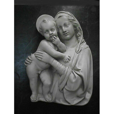 """Handcrafted Madonna & Child Silhouette Inspirational Wall Plaque 13""""W 5""""D 18""""H"""