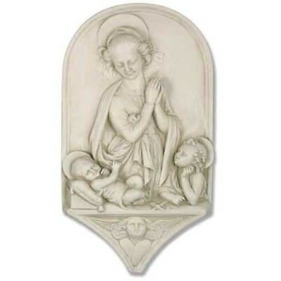 """Handcrafted Madonna & Child Giovanni Inspirational Wall Plaque 9""""W 2""""D 15""""H"""