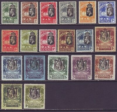 Gambia 1922 SC 102-120 MH Set