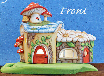 Mushroom Fairy House Ready to Paint Unpainted Ceramic Bisque
