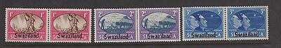 SWAZILAND 38-40 pairs Peace issue,  set mint LH