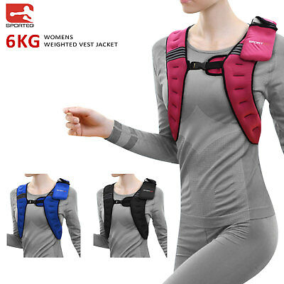 Sporteq 6kg Womens Weighted Vest Weight Loss Gym Strength Training Jacket NEW