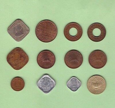 India (1923-1970) - Coin Collection Lot # B - World/Foreign/Asia