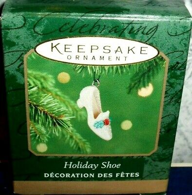 Holiday Christmas Shoe`2001`Miniature-A Sparkling Shoe,Hallmark Ornament->Unused