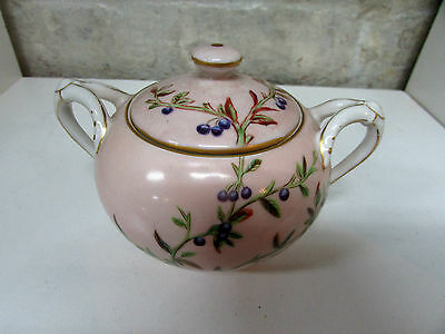 Antique Haviland And Co Limoges Hand Painted Sugar Bowl Laura Brookes Bell 1878