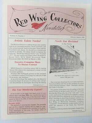 Red Wing Collectors Newsletter February March 1991 North Star Plant Pottery USA