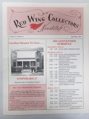 Red Wing Collectors Newsletter April May 1991 Art Pottery USA