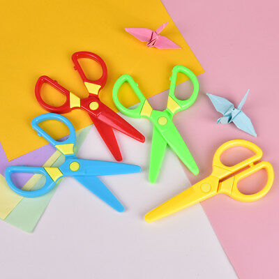 Kids Safety Scissors Paper Cutting Plastic Scissors Children's Handcraft Toys E&