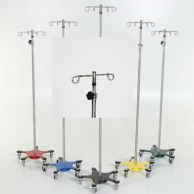 New MCM-220-2 Chrome IV Pole 5-Leg Space Saver Base w/2 Hook Top 1 ea